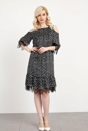 Moda İlgi Modailgi Puanlı Elbise Siyah