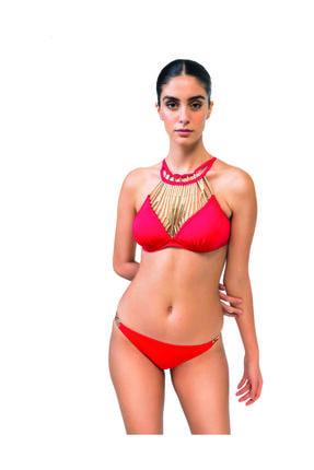 BONESTA Boru Boncuklu Halter Bikini