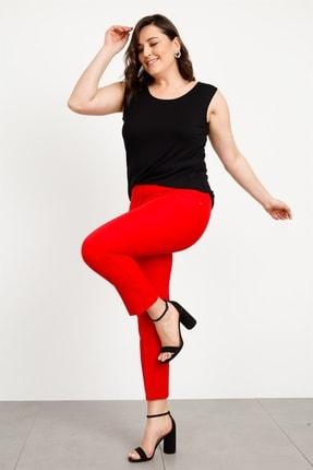 Moda İlgi Modailgi Yan Dar Paça Pantolon Kırmızı