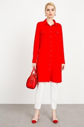 Moda İlgi Modailgi Erkek Yaka Cepli Tunik Kırmızı