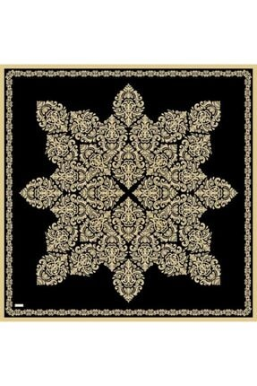 Sarar Kenarı Yaldızlı Duz Renk Ipek Esarp 1761-14