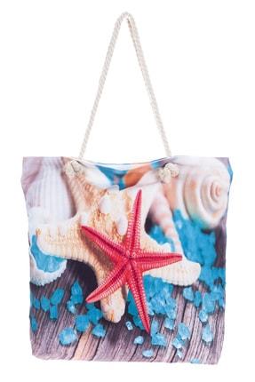 Forum Fashion C012 Deniz Yıldızı Baskılı Plaj Çantası