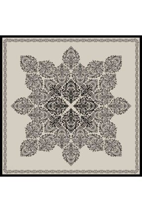 Sarar Kenarı Yaldızlı Duz Renk Ipek Esarp 1761-26