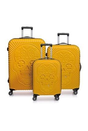 ÇÇS Sarı Unisex 3'Lü Valiz Seti 8698598031005