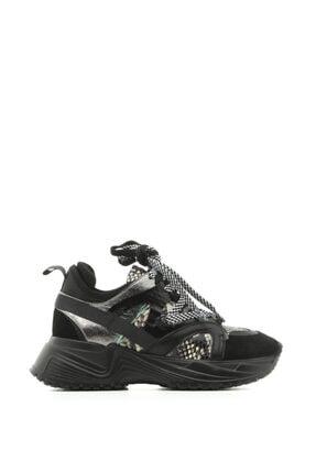 İlvi Kosario Bayan Spor Ayakkabı Siyah Süet