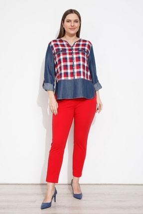 Moda İlgi Modailgi Ekose Bluz