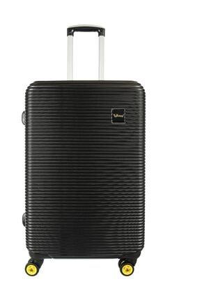 YOUNG Unisex Siyah Valiz/Bavul  YGVLZ5203-M