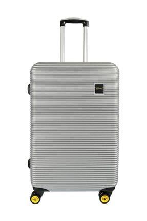 YOUNG Unisex Gümüş Valiz/Bavul  YGVLZ5203-L
