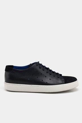 Hotiç Hakiki Deri Lacivert Erkek Günlük Ayakkabı