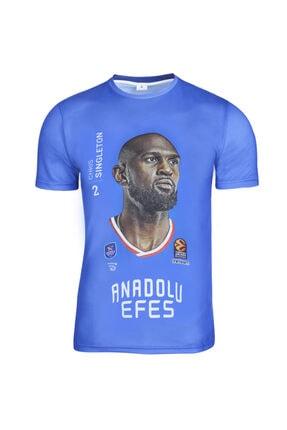 Sportive Anadolu Efes Chris Singleton Unisex Basketbol T-shirt TKE2020-SINGLETON