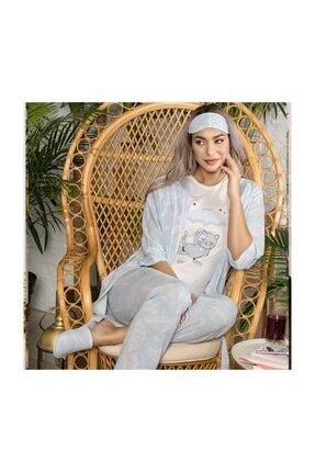 YOYOSO 12029 5 Li Şemsiye Desen Pijama Takım