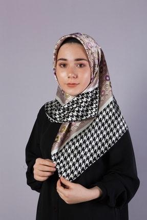 Akel Kadın Tesettür Awam Desenli Ipek Eşarp