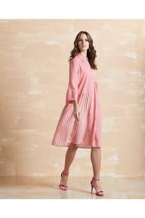 Serpil Kadın Çizgili Elbise