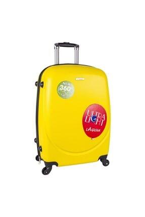 Laguna Abs Valiz Bavul Kabin Boy Sarı
