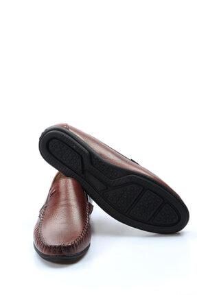 Fast Step Hakiki Deri Taba Erkek Loafer Ayakkabı 628MA1002