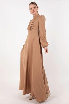 Puane Kadın Toprak Rengi Elbise -pn12179