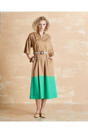 Serpil Kadın Camel Elbise