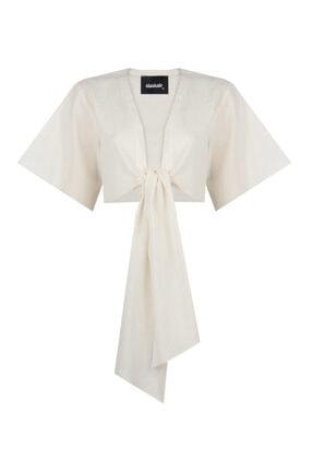 NK Kadın Önü Bağlamalı Crop Bluz