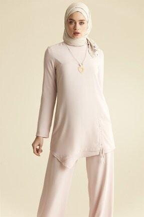Nihan Kadın  Pudra Pantolonlu Tunik Takım  9a3059