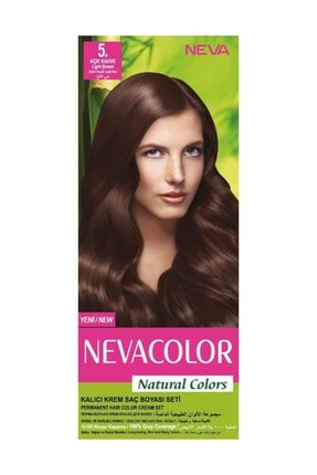 Neva Color Natural Colors Kalıcı Saç Boya Seti  5. Açık Kahve
