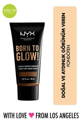 NYX Professional Makeup Fondöten - Born To Glow! Naturally Radiant Foundation 21 Cocoa 800897190644