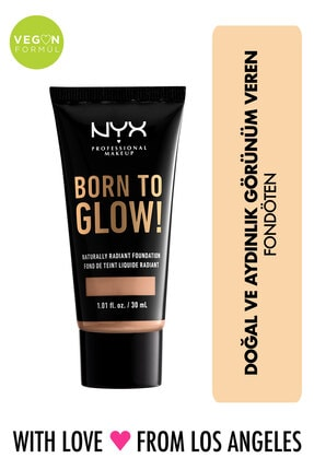 NYX Professional Makeup Fondöten - Born To Glow! Naturally Radiant Foundation 7.5 Soft Beige 800897190385
