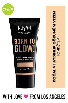 NYX Professional Makeup Fondöten - Born To Glow! Naturally Radiant Foundation 6 Vanilla 800897190347