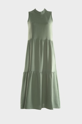 TrendyolMilla Haki Geniş Kesim Elbise TWOSS20EL1864