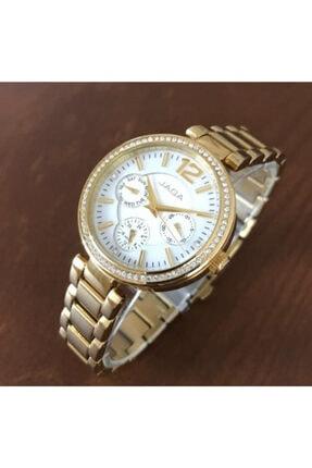 JAGA Çelik Taşlı Kadın Kol Saati Jg.00279a Çalışır Fonksiyonlu