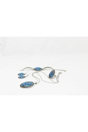 Emotion Kadın Handmade Doğal Taş Mozaik Takı Seti N1045