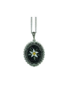 Emotion Handmade Doğal Taş Mozaik Çiçek Kolye N1058