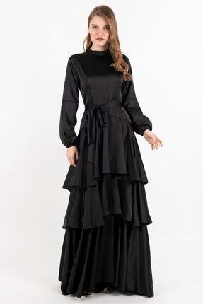Puane Elbise Siyah -pn12144