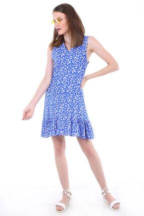 Bigdart Kadın V Yaka Etek Ucu Fırfırlı Elbise 1700