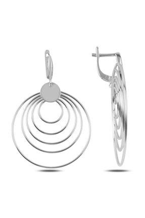 Silverella Gümüş Taşsız Sallantılı Küpe