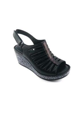 Pandora Kadın Siyah Dolgu Topuk Sandelet