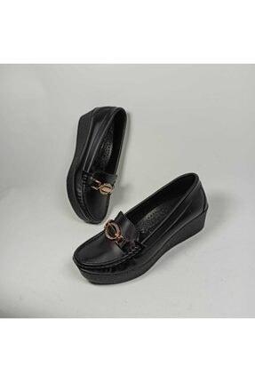 Pandora Kadın Siyah Dolgu Topuk Günlük Babet