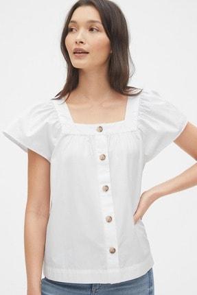 Gap Kadın Kare Yaka Düğmeli Bluz 539355