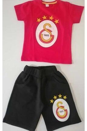 Galatasaray Unisex Çocuk Kırmızı Siyah Şortlu Takım
