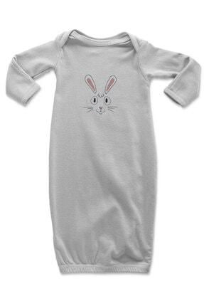 Angemiel Baby Gülümseye Tavşan Yüzü Kız Bebek Uyku Tulumu Beyaz