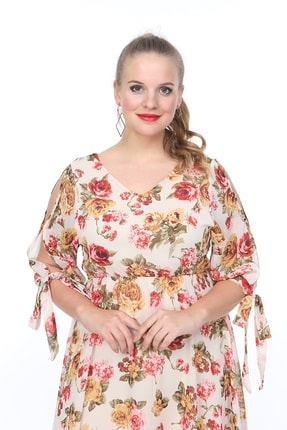 ANGELINO Kadın Piliseli Kolları Bağcıklı Elbise