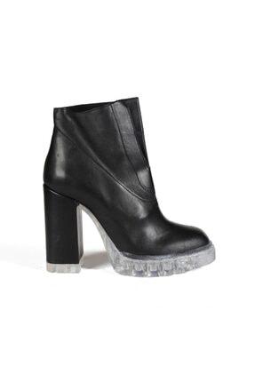 Sofia Baldi Shoes Siyah Deri Kadın Topuklu Bot