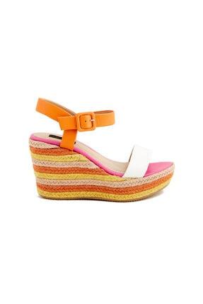 Rouge Multi Color Kadın Dolgu Topuklu Ayakkabı  201Rgk396 026