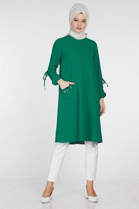 Nihan Kadın Tek Cepli Tunik Yeşil 9A3085