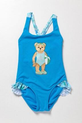 Katia Bony Teal Tales Çapraz Kız Çocuk Mayo-mavi