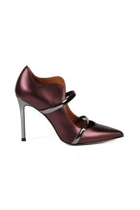 Sofia Baldi Bucaneve Sedefli Bordo Deri Bantlı Kadın Stiletto & Abiye Ayakkabı