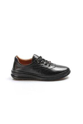 Fast Step Hakiki Deri 004 Siyah Kadın Casual Ayakkabı 757za2031