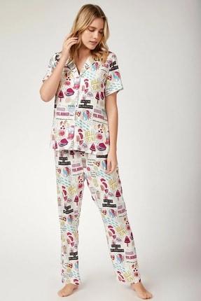 Bigdart Kadın Grafik Desenli Pijama Takımı 6479