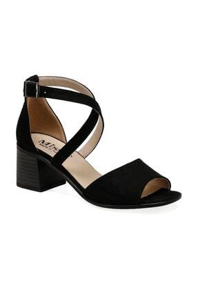 Missf Ds20060 Siyah Kadın Topuklu Ayakkabı