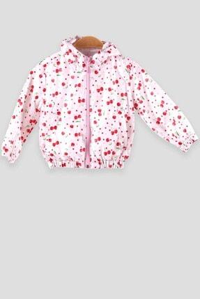 Breeze Kız Çocuk Yağmurluk Kiraz Desenli Beyaz (2-3 Yaş)