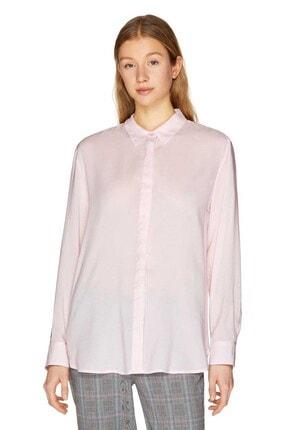 Kadın Düz Renk Viskon Gömlek 311915SF05Q7Z3